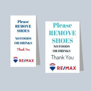 Remove Shoes Signs